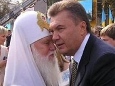 Глава Украинской Православной Церкви КП отшил орден от Януковича