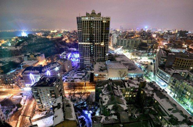 Вид на Киев с самых высоких зданий столицы (фото)