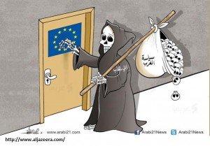Арабские СМИ изобразили теракты в Париже в виде карикатур. ФОТО