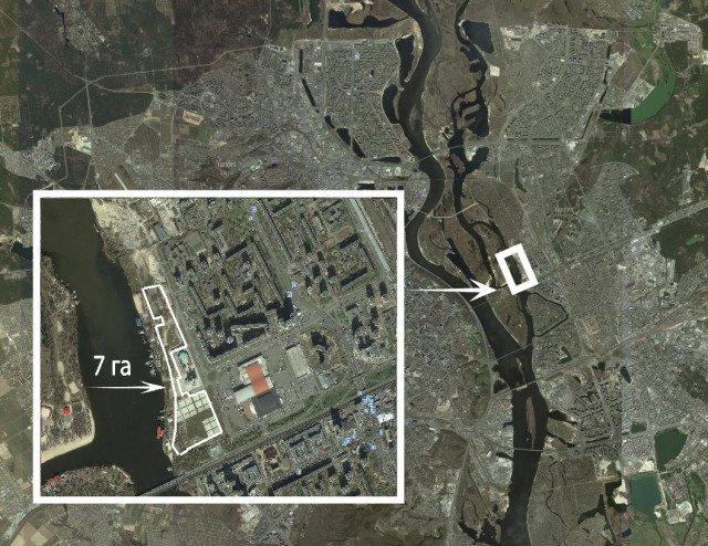 карта киев-левый берег