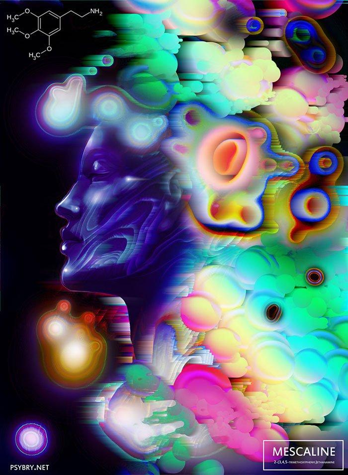 Художник написал 20 картин под воздействием 20 разных наркотиков. ФОТО