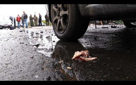 Жуткие кадры с места обстрела в Еленовке. ФОТО 21+