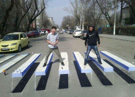 3-D пешеходные переходы появились в Ивано-Франковске. ФОТО