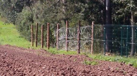 СМИ: Россия возводит забор с колючей проволокой на границе с Польшей